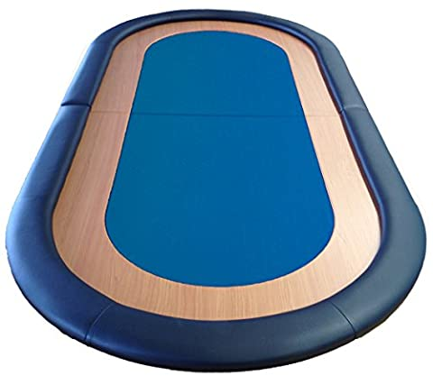 Poker-Tisch, faltbar, gut Speed Tuchfläche Leder Rest 8 Player blau (Texas Holdem Poker Tischdecke)