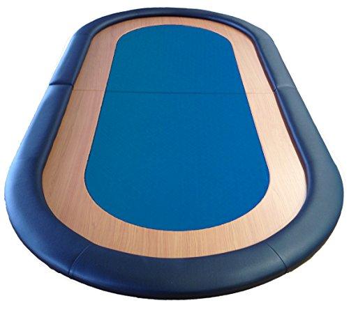 Poker-Tisch, faltbar, gut Speed Tuchfläche Leder Rest 8 Player blau