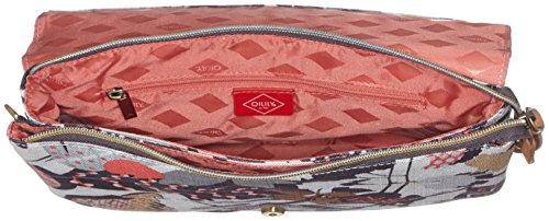 Oilily - Oilily M Flat Shoulder Bag, Borsa a tracolla Donna Grigio (Charcoal)