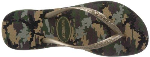 Havaianas Slim camuflada olive green H4129903-0458 Damen Zehentrenner Grün 0458