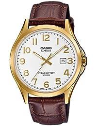 1b308f7decf5 CASIO Reloj Analógico para Hombre de Cuarzo con Correa en Cuero MTS -100GL-7AVEF