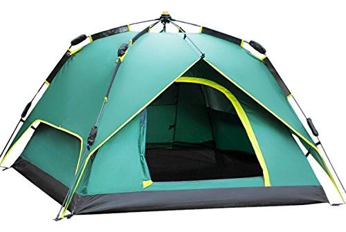 WETOO Grande Pop-up Imperméable Automatique Portable 2-4 personnes Tente de Camping Familiales Randonnée Trekking 4 Saisons avec Sac de Transport