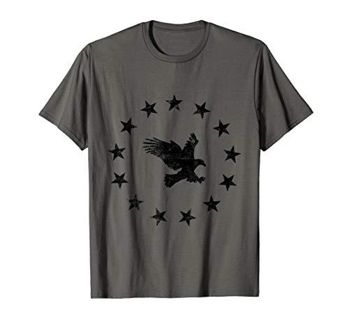 Betsy Ross Flagge Sterne US Patriotisch Amerikanischer Adler T-Shirt