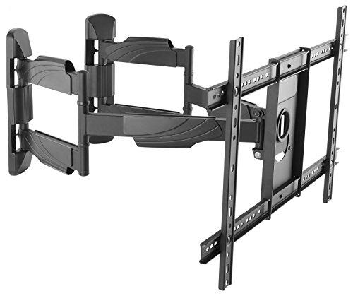 RICOO TV Wandhalterung Ecke S5364 für ca. 94-178cm 37-70 Zoll Fernseher mit VESA 300x100-600x400 Schwenkbar Neigbar | Fernseh Eckhalterung Wand Halter Aufhängung auch für Curved LCD & LED | Schwarz -