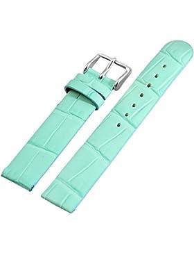 Anti Allergic Echt Lederband Uhrenarmband Uhrband Ersatzband Uhrenband türkis 16 mm 815236002016