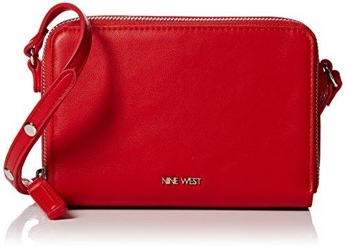 nine-west-damen-ania-xbody-sm-umhangetaschen-red-dyansty-red-one-size