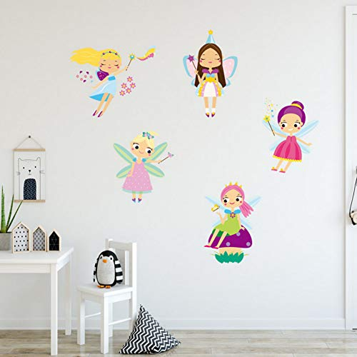 Yzybz Tapete Aufkleber Niedliche Kleine Engel Kind Print Wandaufkleber Wohnzimmer Sofa Schlafzimmer Hintergrund Dekor Aufkleber