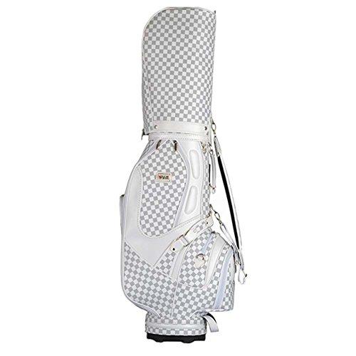 PGM Golf Standard-Bag Golf Clubs Carry Bags --- Qualität PU Oberfläche, Regenschirm fixiert, Halten Kann Komplette Sets of Golf Clubs # QB002, Herren damen, weiß