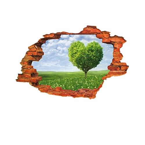 DIY 3D Scenic Gebrochene Wand Loch Wanddekor Aufkleber Abnehmbare Selbstklebende PVC Wandkunst Wandbilder Wandtattoo Home Office Party d3 39,5x26,2 cm