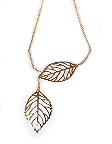 necklace with leafs for women