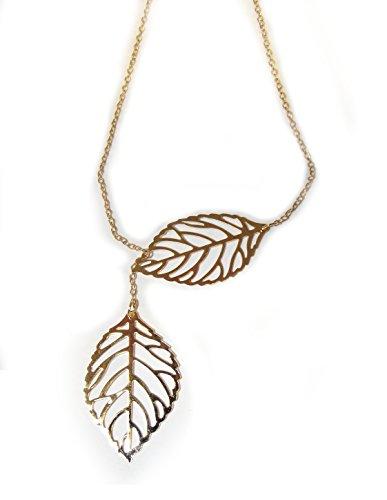Collana delicato con due foglie