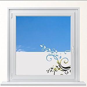 DD Dotzler Design 6416-13 individuelle Sichtschutzfolie Fensterfolie Milchglas Blumenranke Schnörkel Ranke