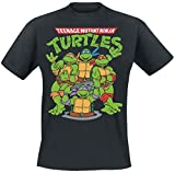 Photo de Les Tortues Ninja Group T-Shirt Manches Courtes Noir par Teenage Mutant Ninja Turtles