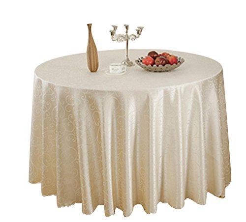 Binhee tovaglie modello di gloria di mattina festa di alto livello per matrimoni tovaglie colore puro tovaglie(diametro 220cm)