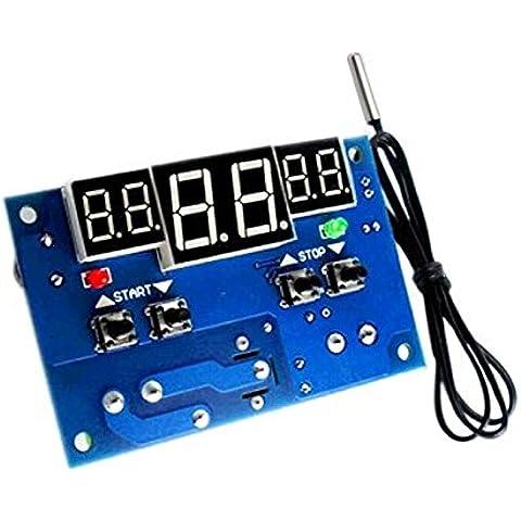 Tenflyer TmallTech DC 12V / 24V LED digital Termostato -9-99C controlador de temperatura + sensor de temperatura (DC