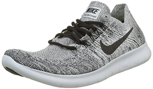 Nike Free RN Flyknit 2017, Chaussures de Running Homme Blanc (White/Black-Stealth-Pure Platinum)