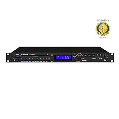 Tascam Cd-400U Cd/Media Player With Integrated Am/Fm Receiver And 1 Year Everythingmusic Extended Warranty Free