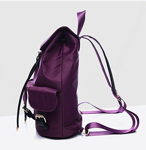 LAIDAYE Nylon Backpackers Casual Borsa A Tracolla Di Tela Di Canapa Grande Sacchetto Di Pacchetto Di Viaggio Sacchetto Di Scuola Del Vento Di Corsa Del College Black