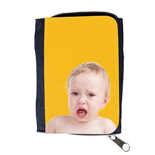 Portemonnaie Geldbörse Brieftasche mit // Q05700602 schreiendes Baby Bernstein // Purse Wallet (Bernstein Herren-geldbörsen)