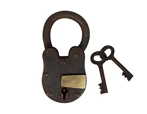 Vorhängeschloss Vintage 2 Schlüssel Nostalgie Eisen Weinkeller Antik-Stil Vintage Vorhängeschloss