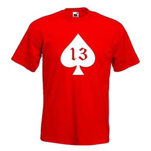 KIWISTAR - Pik Ass 13 Oldschool T-Shirt in 15 verschiedenen Farben - Herren  Funshirt