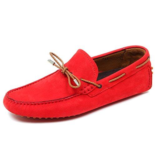 LA PARIGINA D4400 mocassino uomo CALZOLERIA rosso vintage loafer shoe man Rosso