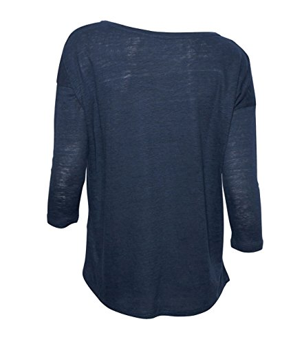 MAJESTIC Damen Shirt aus Leinen & Seide in Blau 174 ombra