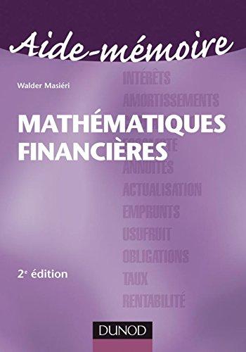 Aide-mémoire Mathématiques financières