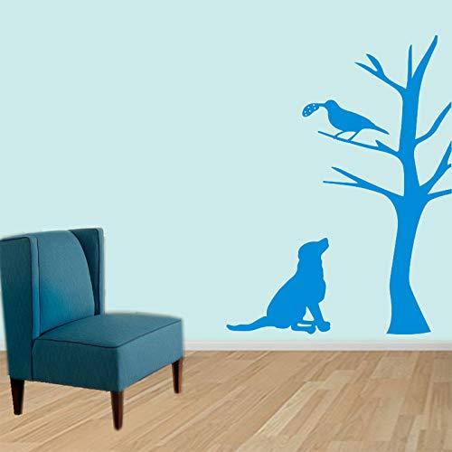 woyaofal Wand s Hund Vogel Baum Vinyl Wand Haustier Wände Aufkleber Wohnkultur Wände Aufkleber Kunst Für Kinder Wohnzimmer Haus Dekoration 110x160 cm