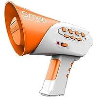 LALEO Mini Cuerno Divertido Juguetes para Niños 7 Diferentes Voces Cambiador De Voz Inteligente Altavoz Educación Niños Juguete De Sonido Cambio De Voz Cuerno,Naranja