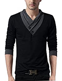 "Style Shell ""Premium (Bio Wash)"" Men's V-Neck Full Sleeve Cotton T-shirt"