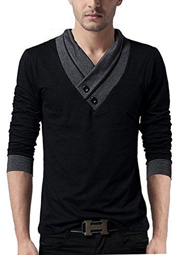 Style-Shell-Premium-Bio-Wash-Mens-V-Neck-Full-Sleeve-Cotton-T-shirt