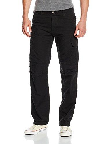 Hose 52 Cargo (Urban Classics Herren Hose Camouflage Cargo Pants, Schwarz (Black 7), 52 (Herstellergröße: 38))
