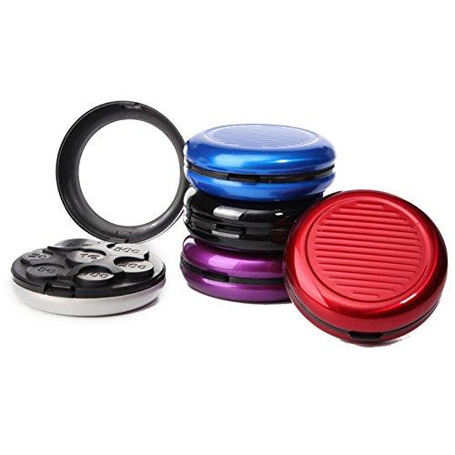 SODIAL Fashion Aluminiumundpp Euro Münzen Geldb?RSE Aufbewahrungsbox Notecase Mit Eingebautem Kosmetikspiegel Niedlich Multi-Farben 1 Stück -