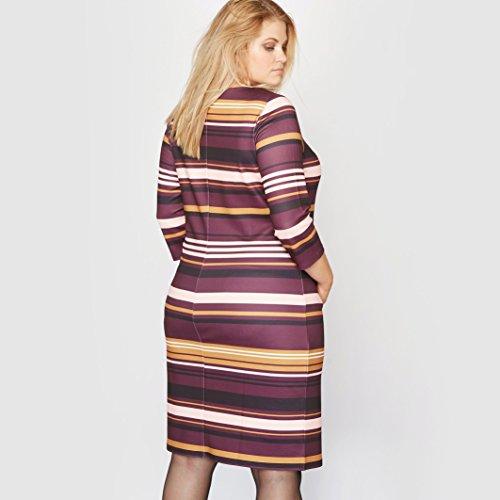 Castaluna Frau Gestreiftes Kleid Mit 34Armeln Bunt Gestreift
