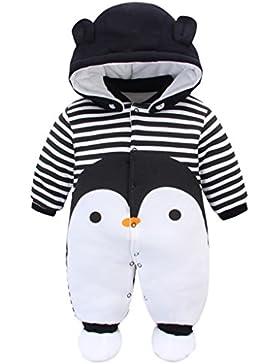 Baby Overall Mit Kapuze Footies Winter Strampler Schneeanzüge Karikatur Jumpsuit Mädchen Jungen Kleidungsset