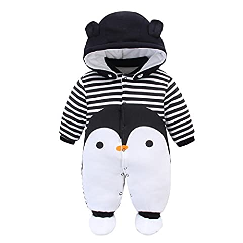 Baby Rompers with Footies Hat Boys Girls Cotton Jumpsuit Infant