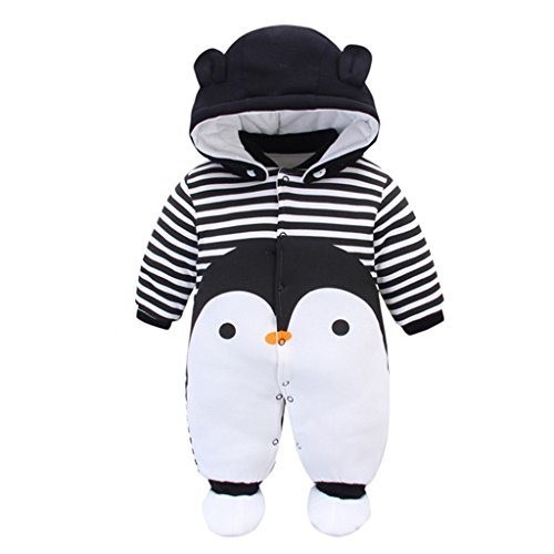aa629b351b50 Baby Rompers with Footies Hat Boys Girls Cotton Jumpsuit Infant Winter  Outfits Set, 3-6 Months - Buy Online in Oman. | Apparel Products in Oman -  See Prices ...