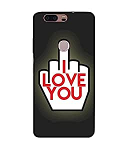 "NH10 DESIGNS 3D PRITING DESIGNER HARD SHELL POLYCARBONATE ""I LOVE YOU,MIDDLE FINGER"" PRINTED SHOCK PROOF WATER RESISTANT SLIM BACK COVER MATT FINISH FOR HONOR 8"