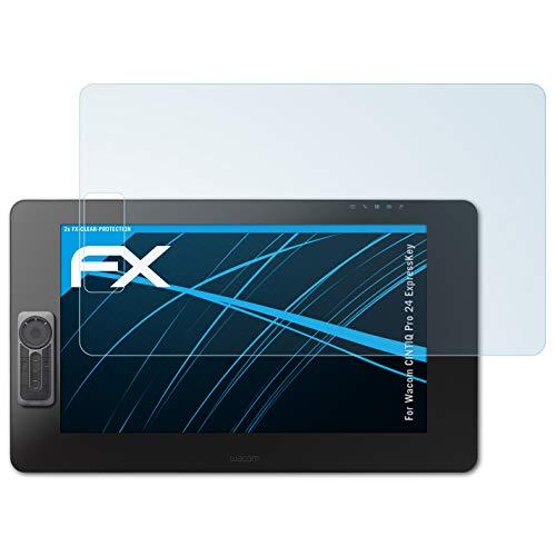 atFoliX Protezione Pellicola dello Schermo per Wacom CINTIQ PRO 24 ExpressKey Pellicola Protettiva, Ultra-Trasparente FX Proteggi Schermo (2X)