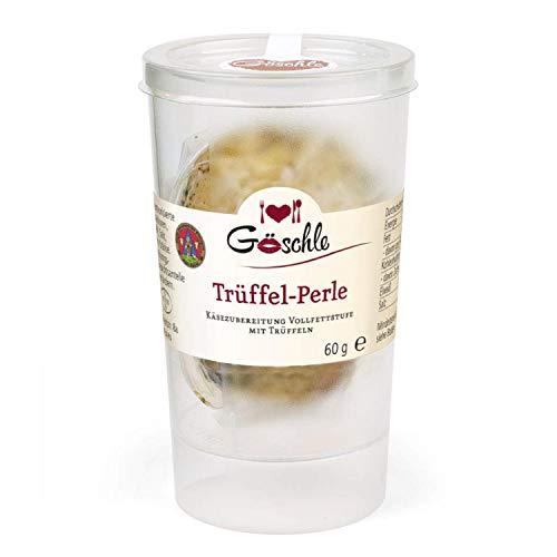 Die Trüffelmanufaktur - Feinkost Trüffel Perle, Reibekäse mit 15% echtem schwarzem Trüffel, mild nussiger Hartkäse für Feinschmecker und Gourmets, Packung á 60 g