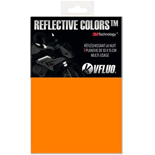 ColorsTM, Universal DIY Kit, reflektierende Aufkleber für Motorradhelme, Motorrad, Fahrrad, 3M TechnologyTM, 10 x 15 cm Reflektoren Blatt, Orange ()