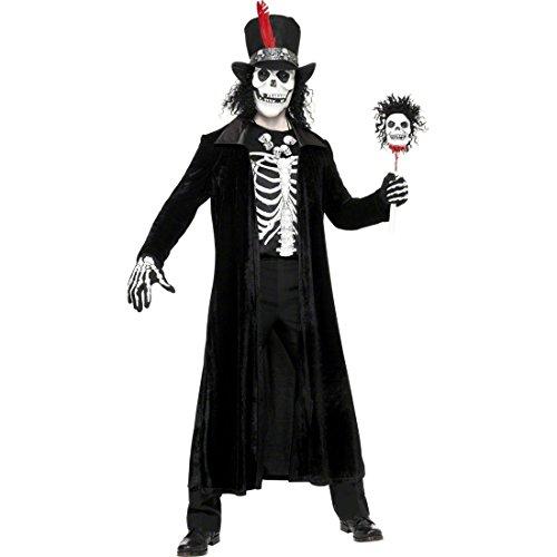 üm Halloweenkostüm Schwarz M 48/50 Zombiekostüm Horrorkostüm Herrenkostüm Tod Sensenmann Halloween Zombie Untoter Kostüm Herren (Untoter Priester Kostüm)