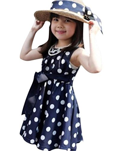 Kleid Kinder Kinder Kleidung Polka Dot Mädchen Chiffon