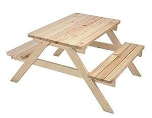 kinder picknicktisch kindersitzgruppe kindersitzgarnitur kindersitzbank basteltisch aus. Black Bedroom Furniture Sets. Home Design Ideas
