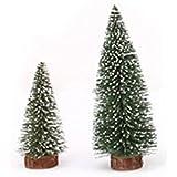 OULII Mini sapin de Noël de 6pcs Stick cèdre blanc bureau petit arbre de Noël décoration de Noël