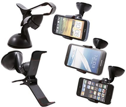 Gadget Decor Car Mount Cradle Holder Windsheild Mobile / GPS Suction Holder Stand For Fly Qik (Clip Type)  available at amazon for Rs.179