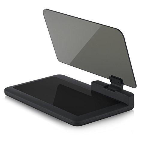 Safego HUD Head Up Display Coche Porta Soporte Telefono Inteligente Coche de Navegación GPS Reflector de Imagen 6 pulgadas