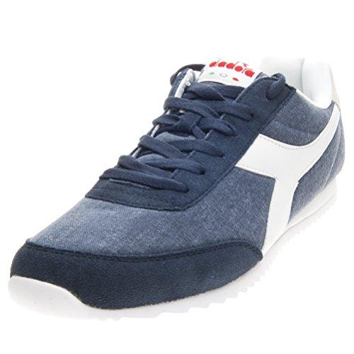 Diadora Unisex-Erwachsene Jog Light C Sneaker Low Hals Blau / Weiß
