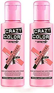 Crazy Color 100 ml No. 70 Peach Coral Pack Of 2
